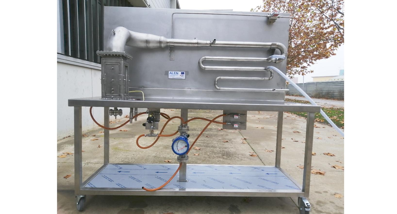 Oxy-fuel burner experimental plant